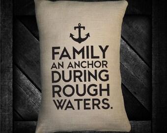 """Family Anchor  12""""x16"""" Pillow Set"""