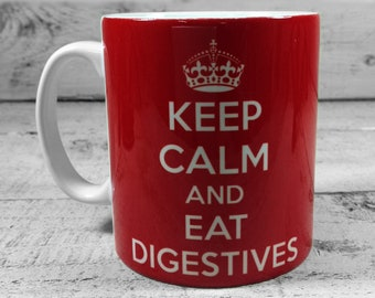 Keep Calm and Eat Digestives 11 oz Gift Mug Cup Present