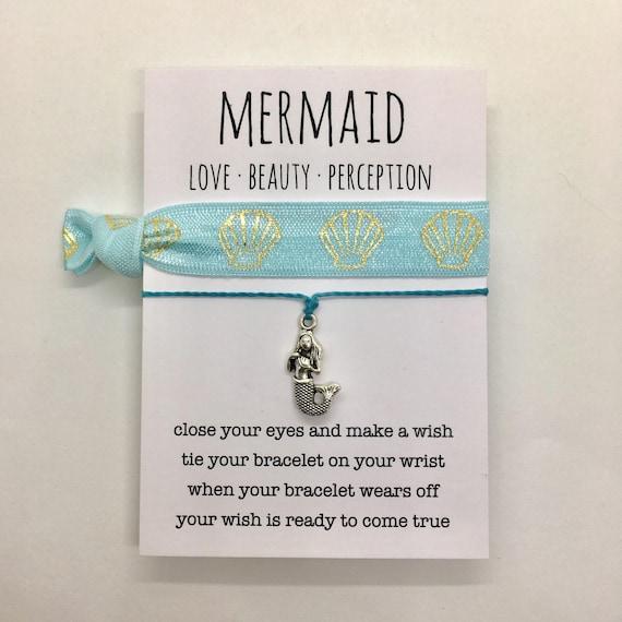 friendship bracelet, mermaid jewelry, party favour, beach boho, bridesmaid gift