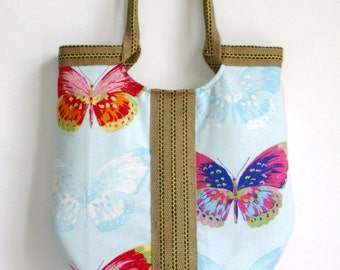 Large butterfly tote bag
