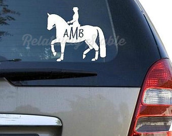 Dressage Decal, Dressage Monogram-TWO styles! Available with or w/out monogram