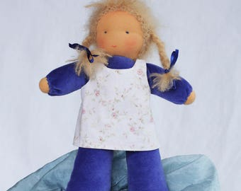 Kit doll sleeping bag, handmade, beginner level, eco-friendly material, velvet, personalized, anniversary gift