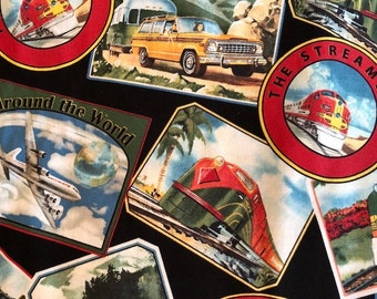 Planes, Trains, and Automobiles by American Vintage for Windham Fabrics