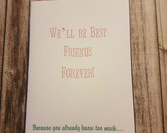 Greeting Card | Friends Card | Friendship Card | Funny Greeting Card | Best Friends