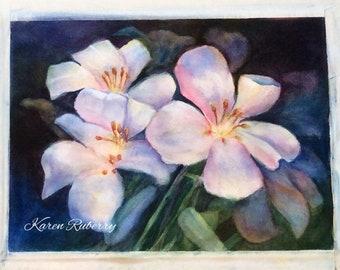 Evening Lilies (Original Watercolor)