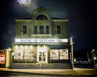 House of Guitars, Rochester NY Store Front, Wall Art, Photo