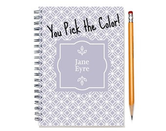 2018 Month Planner, 2018-2019 Personalized Journal, 12 or 24 Mo. Calendar Notebook, Start Any Time, Add Your Name, SKU: pn dia2