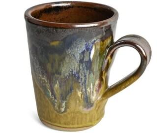 Drip Glaze Ceramic Mug 14 Oz Glaze Mug Brown Coffee Mug