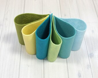 Felt Bundle - Spring Breeze Collection - Wool Blend Felt Sheets, 9 x 12 inches