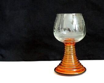 Barware – Fine Etched Crystal Goblet