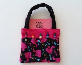 Barbie Children's Crayon Bag and Customized Paper