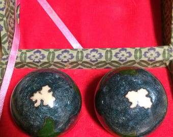 Vintage Chinese Therapy Balls Cloisonne Musical Boading Asian Stress Reducing