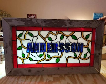 Custom Stained Glass Name Wall Hangings