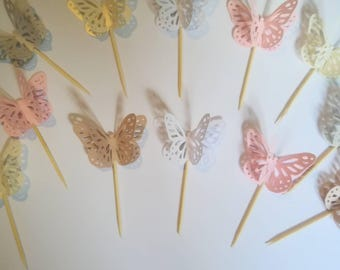 Butterfly cup cake toppers 12