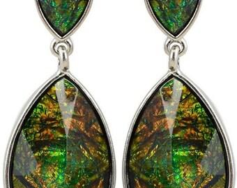 Vintage stud earrings Chameleons Vintage Jewelry Chameleon jewelry Large green earrings Wife jewelry gift Girlfriend gift Mother's Day gift
