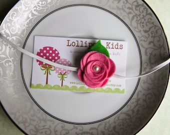 Felt Rose Headband for Infants, Toddlers and Adults