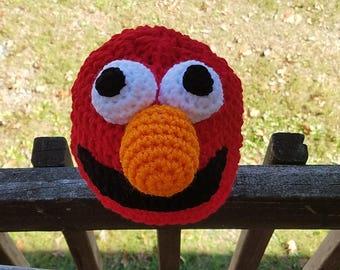 Crochet Elmo Hat Inspired by Sesame Street -  Elmo Character Hats