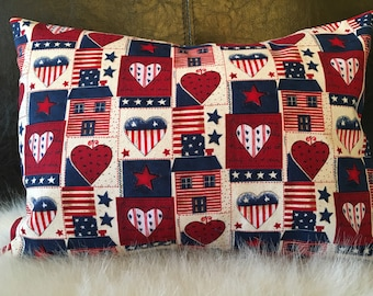 American Flag Pillow/Americana Pillow/Travel Pillow/Toddler Pillow/Throw Pillow/Childhood Cancer Donation with each purchase!