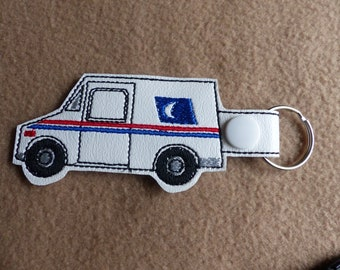 Mail Man Embroidered Key Fob