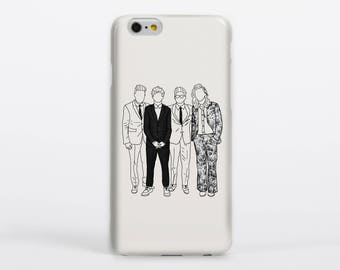 AMAs Phone Case iPhone Samsung Gloss Matte Tough Flip Slip One Direction Harry Styles Louis Tomlinson Liam Payne Niall Horan Drawing