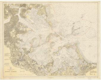 Boston Harbor, MA - 1931 Nautical Map  - Reprint - AC Harbors #246