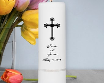 Wedding Candles - Personalized Wedding Candles - Unity Candles - GC305 F6