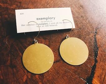 brass circle earrings | brass hoop earrings | simple everyday jewelry brass earrings