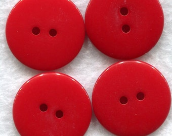 Apple Red Buttons Dark Red Acrylic Buttons 22mm (7/8 inch) Set of 8 /BT161