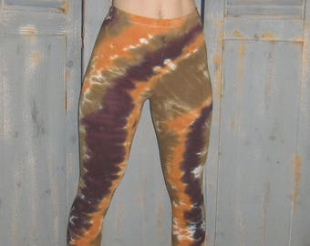 Yoga Leggings, Tie Dye Leggings, Bohemian, Festival Wear