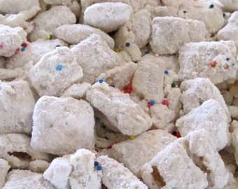 Cake Batter Puppy Chow Snack Mix
