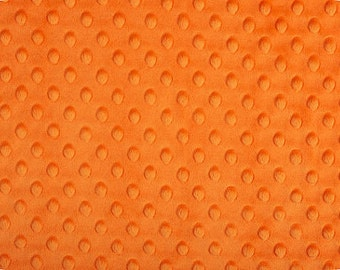CLOSEOUT SALE Orange Minky Dimple Dot by the YARD by Shannon Fabrics
