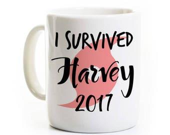 Hurricane Harvey Coffee Mug - I Survived Harvey 2017 - Houston Texas Galveston