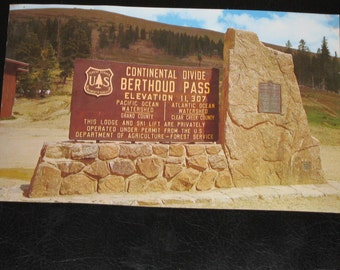 BERTHOUD PASS Colorado - Sign located at the Summit of Berthoud Pass