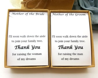 Mother of Groom Necklace, Mother of bride Necklace, Message ,Gift Box, Necklace gift box #2