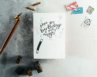 Hope Your Birthday Is Pure Magic Letterpress Birthday Card