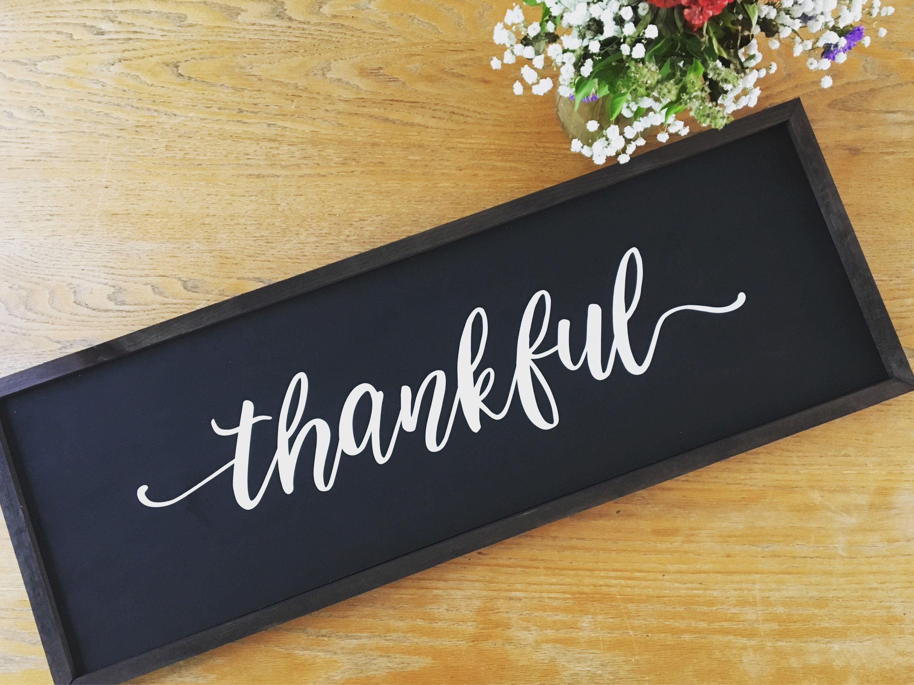 Thankful Rustic Wooden Si...