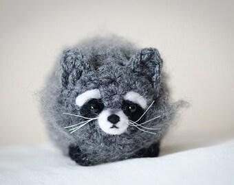 Cute Mystery Raccoon Amigurumi Kawaii Raccoon- Amigurumi Raccoon Crochet  OOAK