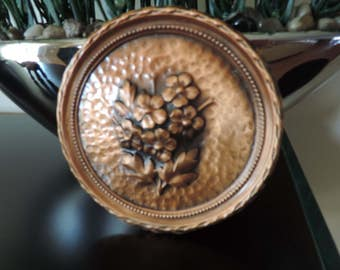 Frame in copper - two dimensions - flowers - hammered copper - former - Collection