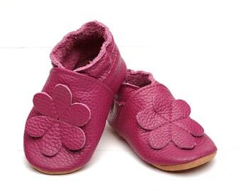 soft sole leather baby shoes infant  crimson Evtodi e-12-m 2