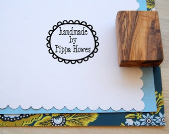 Custom Handmade By Olive Wood Stamp