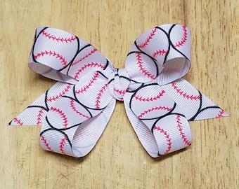 Small Baseball/Softball Hair Bows