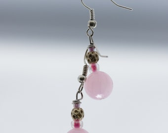 Pink Pearls with Rose Accents