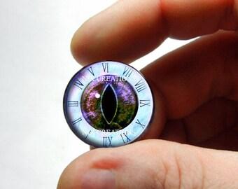 Glass Eyes - Steampunk Clockwork Forest Dragon Glass Eyes Glass Taxidermy Doll Eyes Cabochons - Pair or Single - You Choose Size
