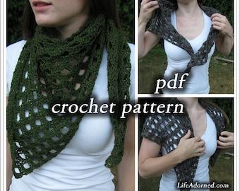 Crochet Pattern pdf - Tapered Scales Shawlette