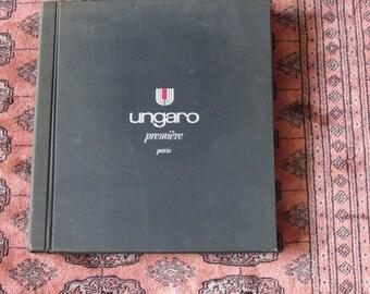 UNGARO fabric swatch book autumn winter 1991-92 designer haute couture fashion image print drawing couture book ungaro designs rare vintage