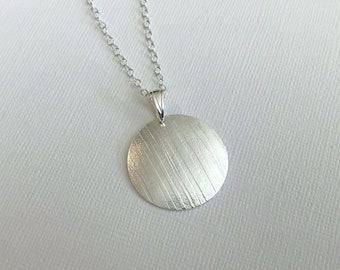 Sterling Silver, Hand Cut and Embossed Pendant