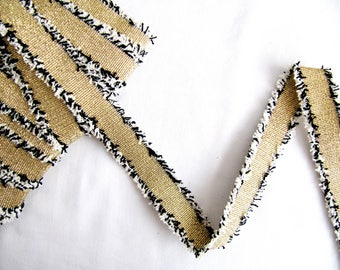 Morella Gold Trim Lace,Fringed Trim Lace,Gold Lurex Trim Lace,Lurex Trim Lace, Fringe Lace, Edge Embellishment,Dress Embellishment,DIY Craft