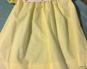 Yellow Dress with White Collar Size 3T
