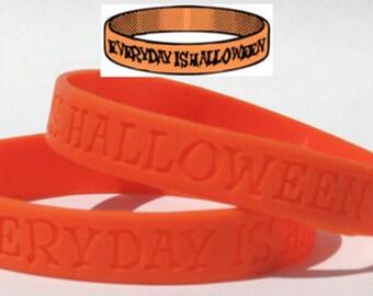 Everyday is Halloween Wristband Jack O Lantern Orange All Hallows' Eve Fun TW022