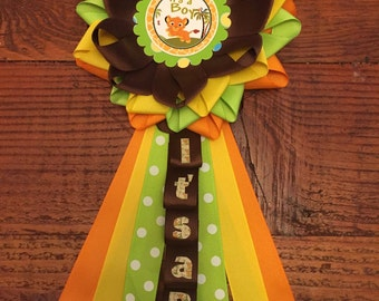 Baby simba baby shower corsage, lion King